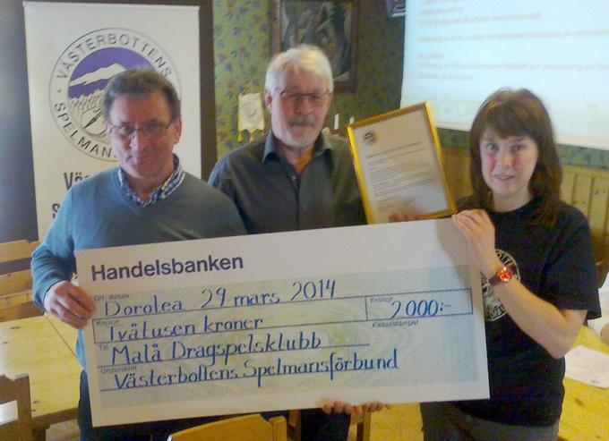 E&J stipendiat 2013 - Malå Dragspelsklubb